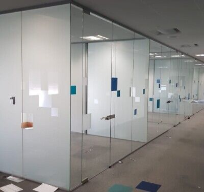 Office Glass Panels Partitions /Glass Room Dividers,With Rails.
