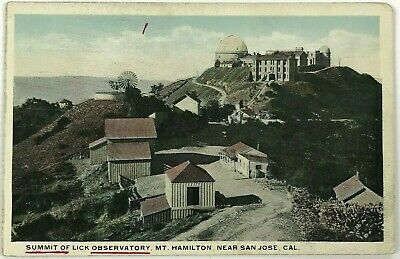1900 1910 Summit Of Lick Observatory Mt Hamilton San Jose California CA Postcard