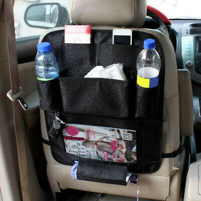 Black Car Seat Back Organizer Storage Bag Holder Hanger Multi-Pocket Foldable