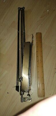 Old Metal Adjustable Sheet Music Stand  Folding robust & sturdy not perfect