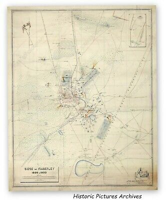 Siege Of Kimberley South Africa 1899 Boers & British  Superb War Map Hardback