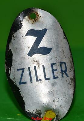 Vintage bicycle - plate   Manufacturers logo - ZILLER / 5051