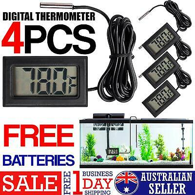 4 Pack LCD Digital Thermometer for Fridge/Freezer/Aquarium/FISH TANK Temperature