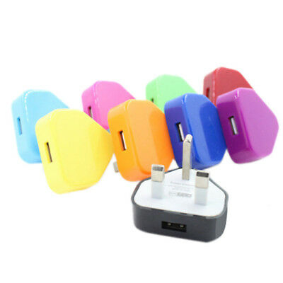 UK Mains Wall 3 Pin USB Plug Adapter Charger Power USB Port For Phones Tablet0cn