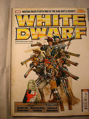 GAMES WORKSHOP WHITE DWARF MAGAZINE # 360 - December 2009