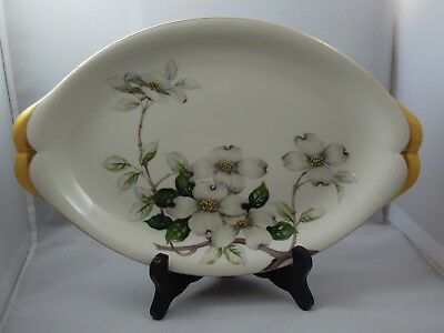 Meito Norleans China Livonia Oval Serving Platter Dogwood Flowers