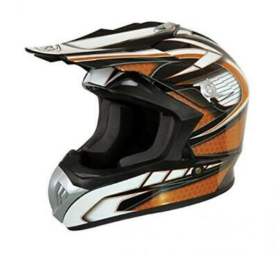 Motorradhelm cross enduro Quad ATV TORX Marvin Deko orange Größe L 59-60 cm