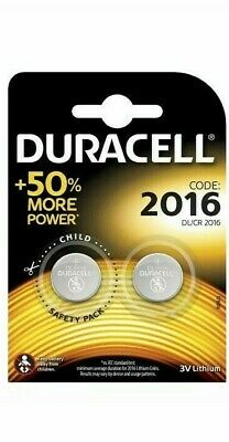 2 x DURACELL 2016 BUTTON CELL 3V LITHIUM BATTERY DL2016 CR2016 expiry 2028