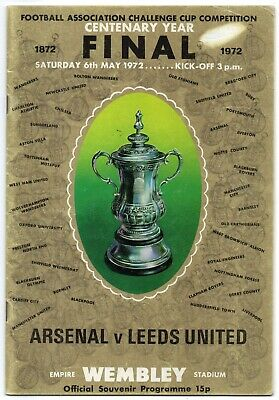 1972 F.A. Cup Final Programme ARSENAL v LEEDS UNITED