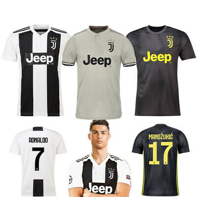 18-19 Football Kits Ronaldo Soccer Jersey Short Sleeve 3-14Y Kids Suit+Socks