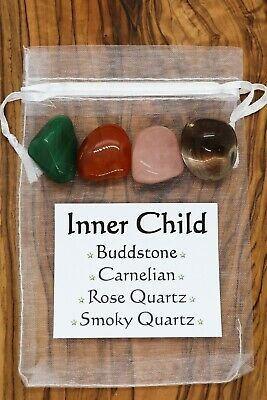 Inner Child Crystal Set Carnelian Buddstone Rose Quartz Smoky Quartz Inner Self
