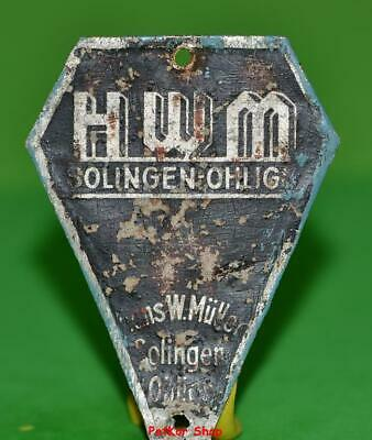 Vintage bicycle - plate   Manufacturers logo - H W M / 5031