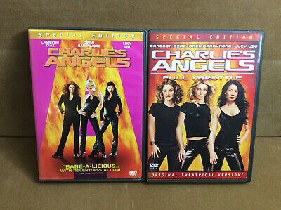 Charlie's Angels 1 + 2 Full Throttle DVD LOT Double Feature (Lot # 181)