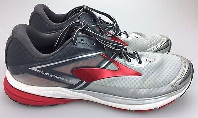 4c4d4fe9f4646 Brooks Ravenna 8 Running Shoes Sneaker Silver Anthracite High Risk Red Mens  12.5