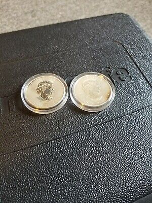 LOT of 2- 2012 Canadian Maple Leaf .9999 1oz. Silver Coins WW Moose