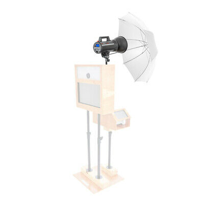 "PIXAPRO LUMI200 Photobooth Kit with 40"" Translucent Umbrella Lighting Photograph"