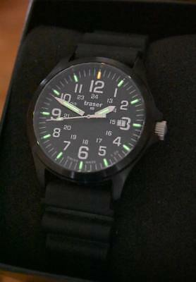 Traser P67 Officer Pro, Silicone Strap, Excellent Condition, Swiss H3 Tritium!