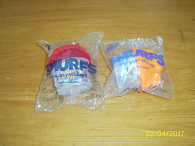 Two Mcdonalds Happy Meal Toy, Smurfs, The Lost Village, 2017 Bnip.