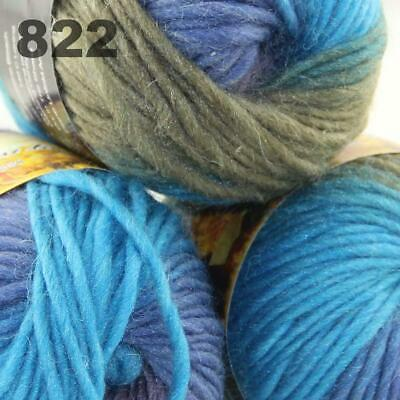 Sale Lot 3Ballsx50gr New Knitting Yarn Chunky Colorful Hand Wool Wrap Scarve 822