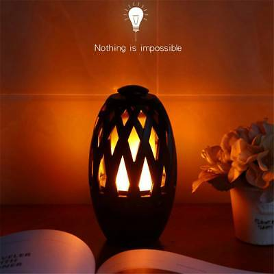 Outdoor Wireless Bluetooth Stereo Music Speaker Portable LED Flame Camping Lamp