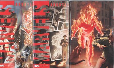 Marvels Annotated #1 1St Print Alex Ross Virgin & Rivera 3 Cover Set Nm