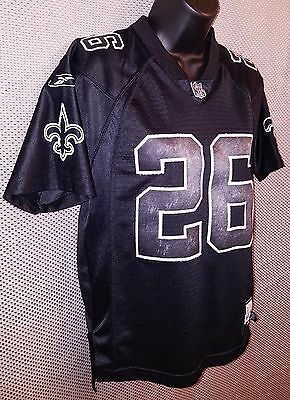 New Orleans Saints Deuce McAllister Sewn Black Jersey EUC - Youth M Womens S  M d1b0acb23