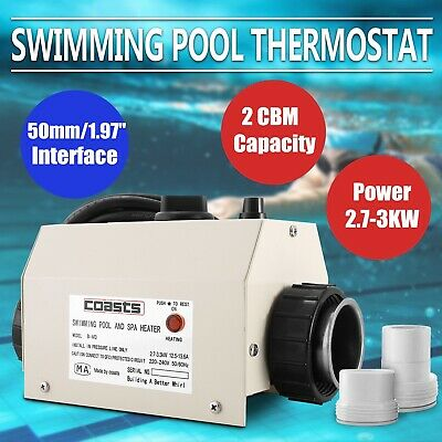 Electric Swimming Pool and SPA Bath Heating Tub Water Heater Thermostat 220V 3KW