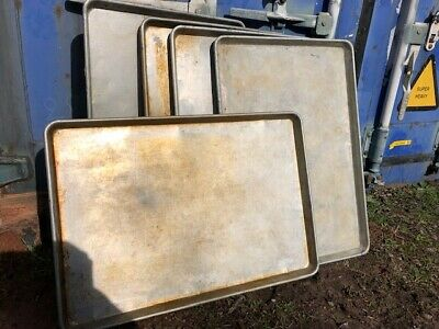 5 Commercial Full Size Dough Bakery Baking Cookie Sheet Aluminum Oven Pans