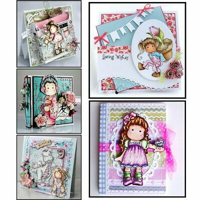 Clear DIY Crafts Lovely Girl Silicone Rubber Scrapbooking Transparent Stamp