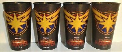 Marvel Comics: Captain Marvel 2019 Movie Theater Exclusive Four 44 oz Cups