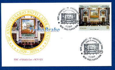 FDC PATTI LATERANENSI 2019 ITALIA JOINT Vaticano First Day Cover - FILITALIA 421