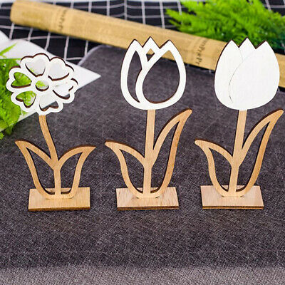 Wooden Hollow Flowers Easter Decoration for Creative Easter Party Ornament
