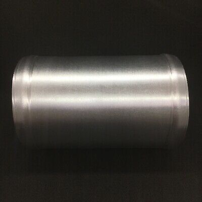 Universal 2.25Inch 57mm Alloy Aluminium Pipe Straight 100mm Brushed Swaged Join