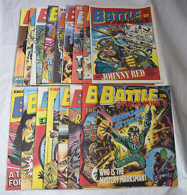 Collection of x17 1987-88 Battle Storm Force Boys War Comic's