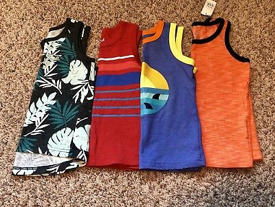 Lot Of 4 Cat & Jack Gap Toddler Boy Muscle/Tank Top Size 3T