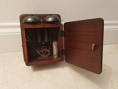 Vintage Mahogany Telephone Bell Box / Bell Set No. 1A