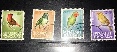 Togo Stamps 1964 Used SG262-365 Birds