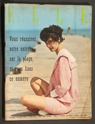 'elle' French Vintage Magazine Seaside Issue 10 June 1957