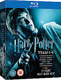 Harry Potter Collection - Years 1-6 (Blu-ray, 2009, 7-Disc Set, Box Set)