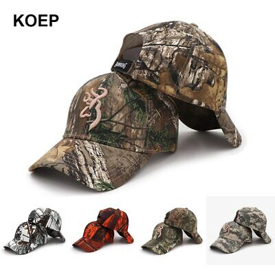 575a08433d1ea KOEP Browning Camo Baseball Cap Fishing Caps Men Outdoor Hunting Camouflage
