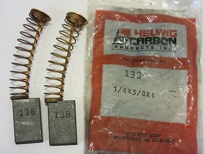 Lot of 5 New Helwig Carbon Motor Brushes 90-131727-170-6-06 Copper Leads