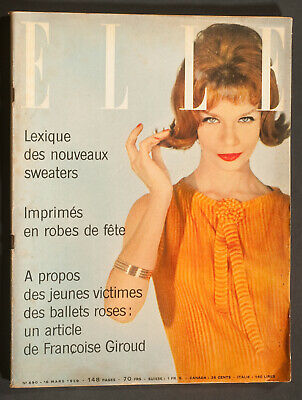 'elle' French Vintage Magazine 16 March 1959