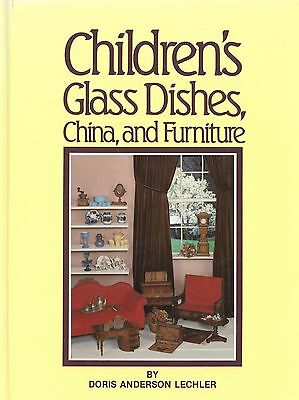 Antique Vintage Children's Glass Dishes China Furniture / Scarce Book + Values