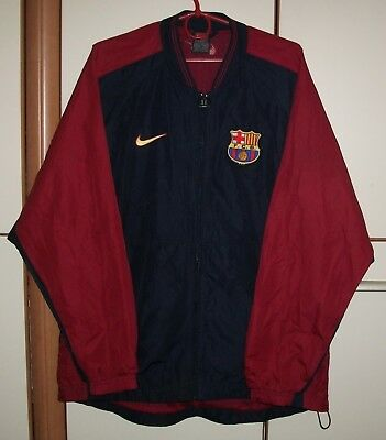 0e3870dc5 BARCELONA SPAIN 1990 S Training Jersey Jacket Tracksuit Nike ...