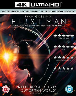 First Man 4K Ultra HD Blu-ray Ryan Gosling Claire Foy Brand NEW 5053083173869