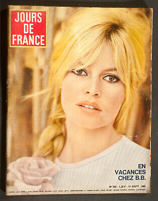 'jours De France' Vintage Magazine Brigitte Bardot Cover 11 September 1965