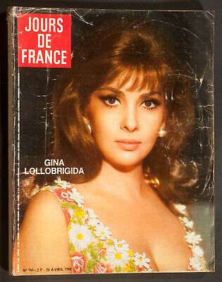 'jours De France' Vintage Magazine Gina Lollobrigda Cover 26 April 1969