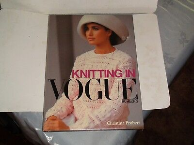 Knitting Machine Magazine/ Book: Knitting In Vogue No 2 Christina Probert