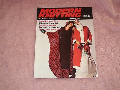 Knitting Machine Magazine Modern Knitting December 1977