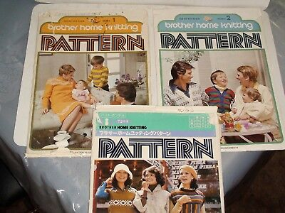 Knitting Machine Magazine/ Book: Brother Home Knitting Patterns X 3 (3)